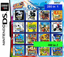 280 GAMES IN One cartridge Nintendo game card  2DS NDS DSLITE /DSi/3DS/3DS Xl