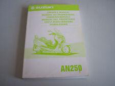 Fahrerhandbuch Bedienungsanleitung Suzuki AN250 in EN/FR/GE/SP/IT/DU  BJ 1998