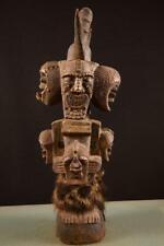 9281 Africain Vieux Songye Achtkpof Figurine Dr Du Congo Afrique