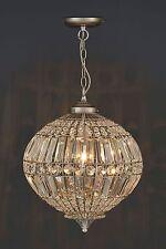 NEXT Beaded Silver Effect Lantern Ceiling Lighting & Chandelier NEW