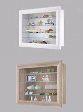 Bora10 Wall Mounted Glass U0026 Wood Display Cabinet Shelving