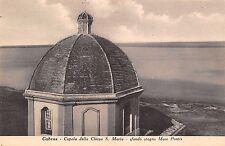 5575) CABRAS (ORISTANO) CUPOLA CHIESA S. MARIA SFONDO STAGNO MARE PONTIS..