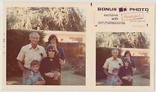 Vintage 70s PHOTO Family In Backyard w/ Young & Teen Boys & Bonus Pic