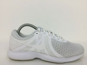 Nike Revolution 4 White Textile Sport Women Trainer AJ3491-100Siz UK 5 Eur 38.5