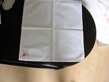 6 Servietten - weiß mit Stickerei - Hohlsaum - s. Fotos/Beschreibung