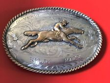 Verde Vaqueros Relay Race Award Sterling Silver B-K 1967 Belt Buckle