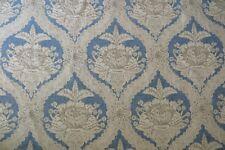 Schumacher Curtain Fabric Haddon Hall Damask 12 Metres 100 Cotton Swedish Blue