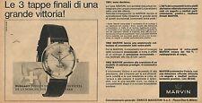 W8436 Orologio MARVIN - Pubblicità 1963 - Advertising