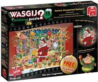 Jumbo 19172 Wasgij Christmas 15-Santa's Unexpected Delivery! 2x1000 Piece Puzzle