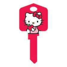 "HELLO KITTY "" RED "" House Key Blank Kw1 SANRIO TV"