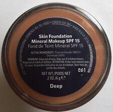 Bobbi Brown Skin Foundation Mineral Make Up Spf 15 .shade Deep 6g withbox