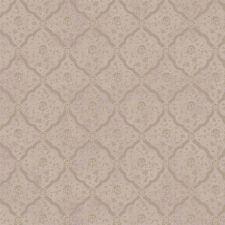 York Brandywine Harlequin Medallion Wallpaper in Powdered Purple & Taupe GL4648