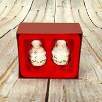 Lenox Holiday Mr. And Mrs. Claus Salt & Pepper Shaker Set Collectible Houseware