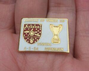 ARSENAL EUROPEAN CUP WINNERS CUP 4.5.94 COPENHAGEN PIN BADGE RARE VGC