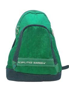 Vintage Kipling Safety Green Cross Body Backback Hiking Exercise Bag Sling