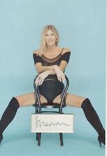 SHARRON DAVIES Signed 12x8 Photo Display OLYMPIC SWIMMING Legend & Model  COA