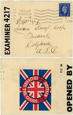 More details for ww2 patriotic label seal union jack gb delivers +censor wilmslow to usa lockheed