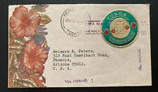 1967 Nukualofa Tonga Toga Islands Airmail Cover To Phoenix AZ USA Metallic Stamp