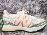 New Balance 327 Casablanca Monogram White Mint Green Trainers Size 10 Lifestyle