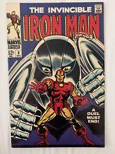 Invincible Iron Man Vol 1 #8 ~ Marvel Comics Silver Age 1968 ~ Combine Ship