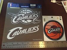 Cleveland Cavaliers die cut decal and sticker set of 3 Brand New