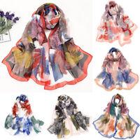 Ladies Womens Dot Print Long Plain Fashion Scarf Neck Scarves Chiffon Shawl Wrap