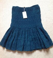 MAJE Embroidered Frilled Crepe Mini Skirt Green High Waisted RRP £160 Sz. 8 BNWT