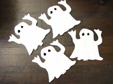 EUC POTTERY BARN KIDS White Fabric Ghost Placemats Halloween Set of 4