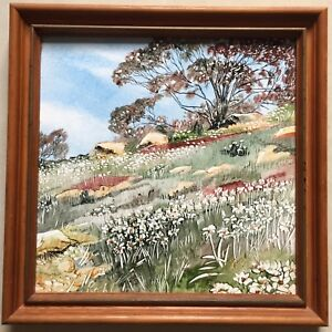 Hand Painted on the Tile by F. W. Rohl~Country Scene~1987~Great to Show !