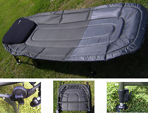 Fishing Bedchair - Wide Boy with Built in Pillow, Carp, Camping *FRRP £129.99*