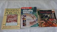 Building Decks Sunrooms Preserving Porches Lot 3 DIY Books  Kahn Black & Decker