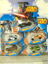 5 SET HOT WHEELS STAR WARS CARS R2D2 YODA DARTH VADER LUKE SKYWALKER & CHEWBACCA