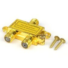 3 Pieces of TriQuest 5402 2-Way Coaxial Cable Signal Splitter