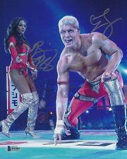 Cody Brandi Rhodes Signed 8x10 Photo BAS COA All Elite New Japan Pro Wrestling 4