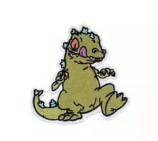 """Rugrats TV Series REPTAR 4 1/2"""" Tall Iron On Patch"""