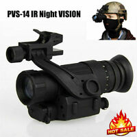 Outdoor HD Infrared Monocular Night Vision Helmet Telescope Hunting Equipment