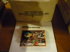 Pontiac 1977 deluxe full line brochure-from just open case-N.O.S. !