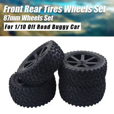 1/10 Front Rear Tires Wheels Set 12mm Hex Hubs For Traxxas RC Off Road Buggy Car