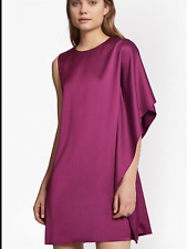 French Connection Size 8 Magenta Sasha Satin Fluted Mini DRESS Occasion £120 Fab