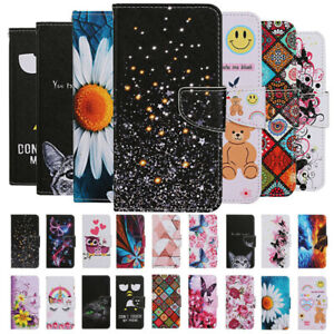 For iPhone SE 2020 12 11 Pro XS XR 8 Painted Leather Wallet Flip Card Case Cover