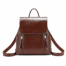 New Women Split Cow Leather Backpack Shoulder Bag Messenger Handbag Travel