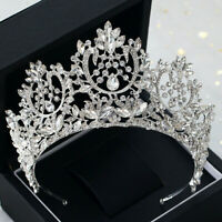 8.5cm High Luxury Crystal Tiara Crown Wedding Bridal Party Pageant Prom