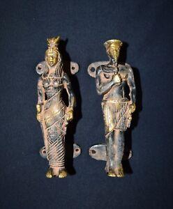 Egypt Queen King Brass Handle Handmade Antique Vintage Style Door Handle CA11