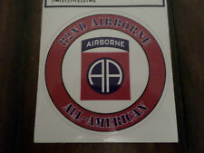 U.S ARMY 82ND AIRBORNE ALL AMERICAN WINDOW DECAL BUMPER STICKER MADE IN THE U.S.