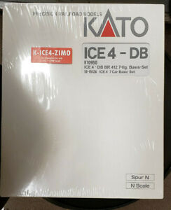 "KATO N SCALE K-ICE4-ZIMO 12 UNIT ICE TRAIN FACTORY INSTALLED ""ZIMO"" DCC & SOUND"