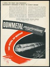 1944 streamlined future bus art Dow magnesium vintage print ad