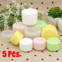 Cosmetic Holder Empty Container Refillable Bottles Lip Balm Jar Face Cream Pots