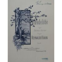 HAHN Reynaldo Infidélité Chant Piano 1893 partition sheet music score