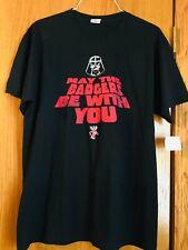 Wisconsin Badgers Darth Vader short sleeve black t-shirt- size large
