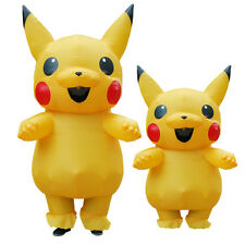 Halloween Inflatable Pikachu Mascot Costume Cos Game Dress Outfits Adults Child